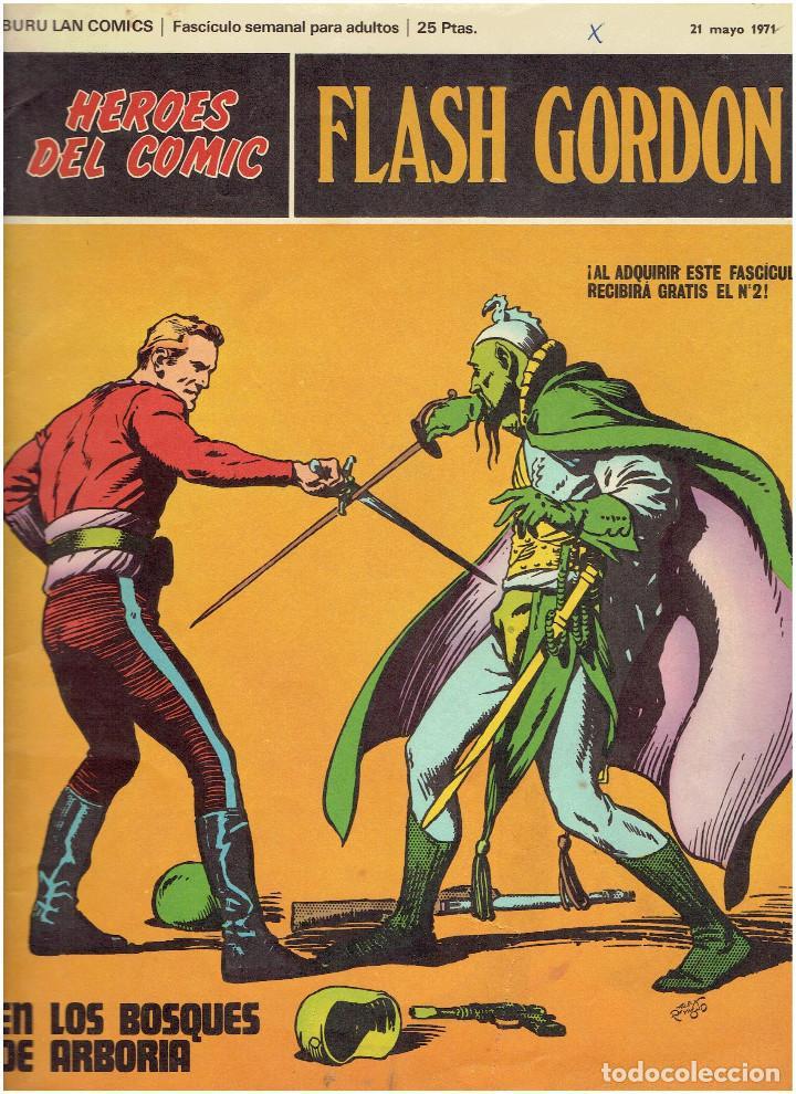 Cómics: * FLASH GORDON * HEROES DEL COMIC * EDICIONES BURULAN 1971 * LOTE FASCICULOS 12 Nº OFERTA * - Foto 4 - 206126503
