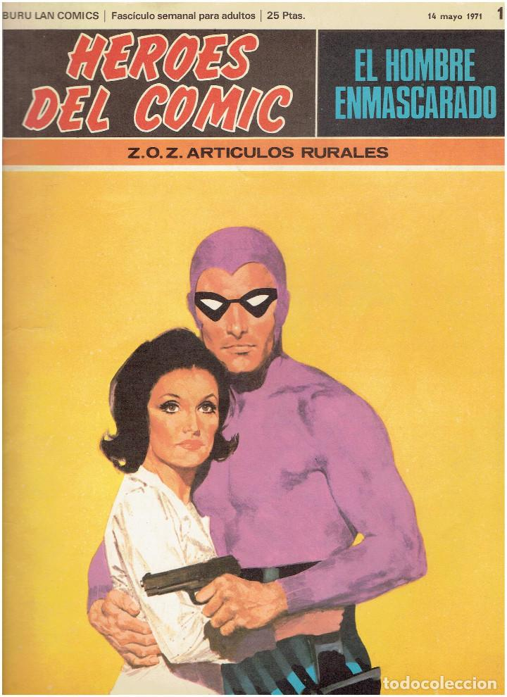 Cómics: * EL HOMBRE ENMASCARADO * HEROES DEL COMIC * EDICIONES BURULAN 1971 * LOTE FASCICULOS 9 Nº OFERTA * - Foto 5 - 206152493