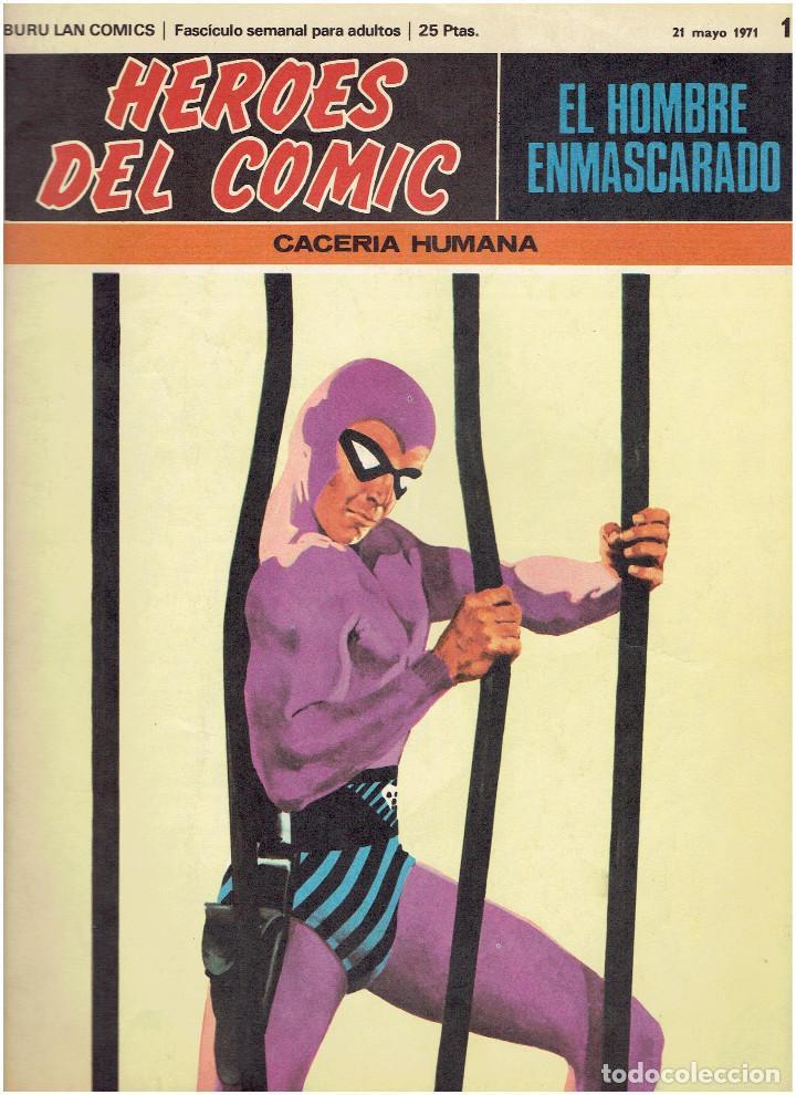Cómics: * EL HOMBRE ENMASCARADO * HEROES DEL COMIC * EDICIONES BURULAN 1971 * LOTE FASCICULOS 9 Nº OFERTA * - Foto 6 - 206152493