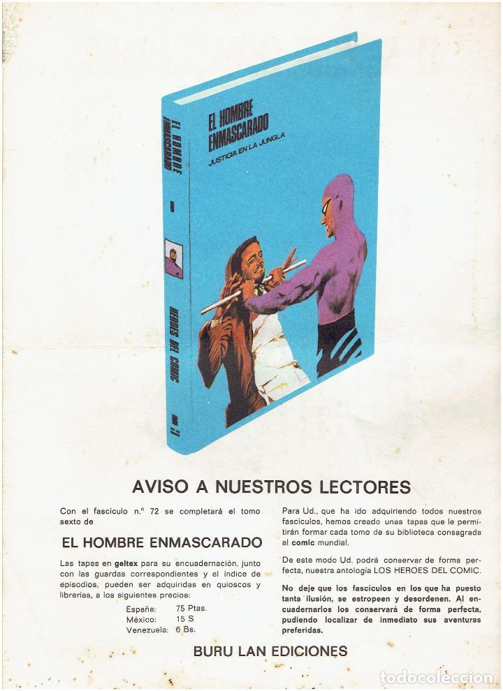 Cómics: * EL HOMBRE ENMASCARADO * HEROES DEL COMIC * EDICIONES BURULAN 1971 * LOTE FASCICULOS 9 Nº OFERTA * - Foto 13 - 206152493