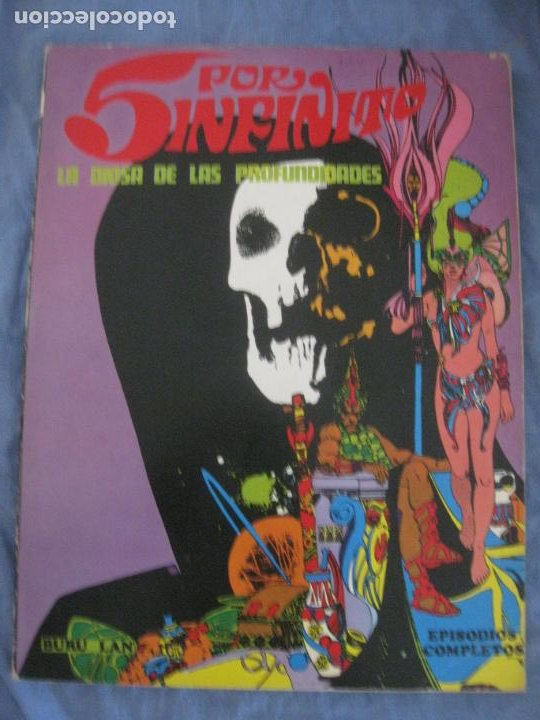 5 POR INFINITO. LA DIOSA DE LAS PROFUNDIDADES. EPISODIOS COMPLETOS. BURU LAN 1974. (Tebeos y Comics - Buru-Lan - Otros)