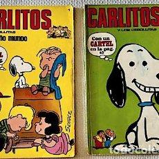 Cómics: [PEANUTS:] NÚMEROS 1 Y 2 DE CARLITOS Y LOS CEBOLLITAS [1971]. AMBOS FALTOS DEL CARTEL.. Lote 211614054