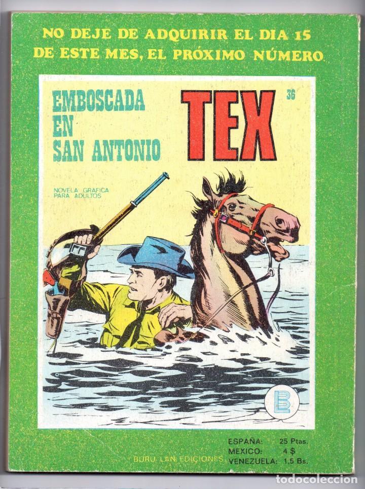 Cómics: Nº 35 TEX BURU LAN , S.A. 1971 - Foto 2 - 212005326
