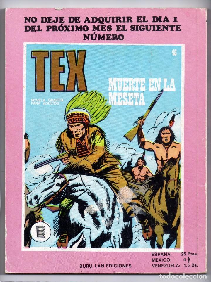 Cómics: Nº 44 TEX BURU LAN , S.A. 1971 - Foto 2 - 212006340