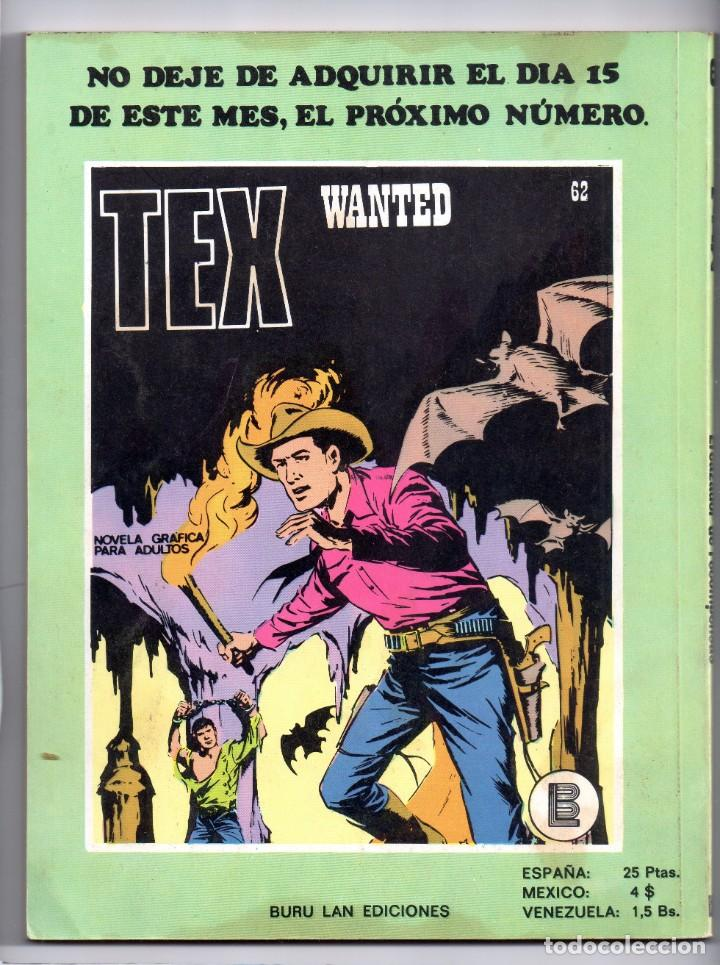Cómics: Nº 61 TEX BURU LAN , S.A. 1971 - Foto 2 - 212008460