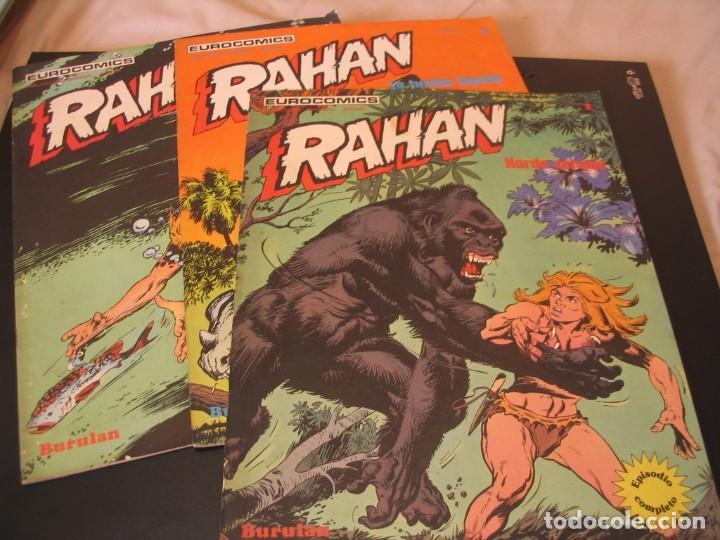 LOTE RAHAN 3 EJEMPLARES 1-2-3 BURULAN (Tebeos y Comics - Buru-Lan - Rahan)
