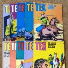 Cómics: TEX Nº 70, 71, 72, 73, 75, 77, 78, 79, 80 Y 81 (BURU LAN 1.973/74) 10 NOVELAS.. Lote 191507225