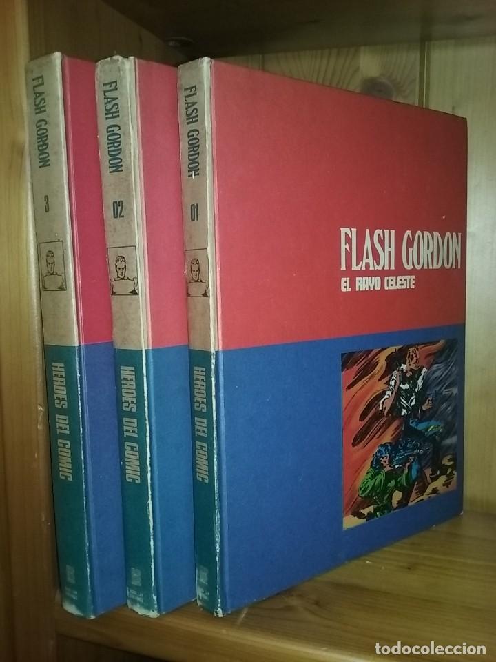 FLASH GORDON, TOMOS 1 2 3, HEROES DEL COMIC, BURU LAN EDICIONES, 1972 (Tebeos y Comics - Buru-Lan - Flash Gordon)