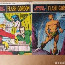 Cómics: HEROES DEL COMIC FLASH GORDON FASCICULOS Nº 01 Y Nº 35. BURU LAN 1972. Lote 216370746