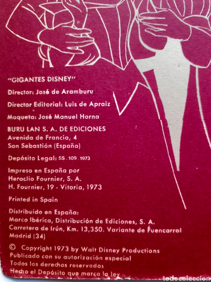 Cómics: MARY POPPINS - GIGANTES DISNEY, Nº 3 - 1ª EDICIÓN, 1973 - EDIT BURU LAN - WALT DISNEY PRODUCTIONS - Foto 3 - 216485213