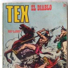 Cómics: TEX 67- EL DIABLO. Lote 218835456