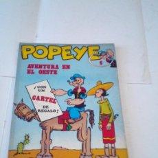 Cómics: POPEYE - NUMERO 6 - AVENTURA EN EL OESTE - EDICIONES BURU LAN - BUEN ESTADO - CJ 102 - GORBAUD. Lote 219063347