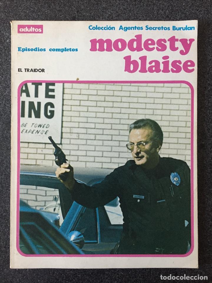 MODESTY BLAISE - RETAPADO 4 - EL TRAIDOR - BURU LAN - 1974 - ¡MUY BUEN ESTADO! (Tebeos y Comics - Buru-Lan - Modesty Blaise)