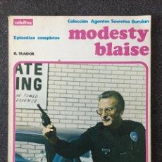 Cómics: MODESTY BLAISE - RETAPADO 4 - EL TRAIDOR - BURU LAN - 1974 - ¡MUY BUEN ESTADO!. Lote 220278176