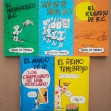 Cómics: LOTE EL PREHISTÓRICO B.C.: NÚMEROS 1-2-4-5-6, POR JOHNNY HART Y BRANT PARKER (BURULAN, 1972).. Lote 220386978