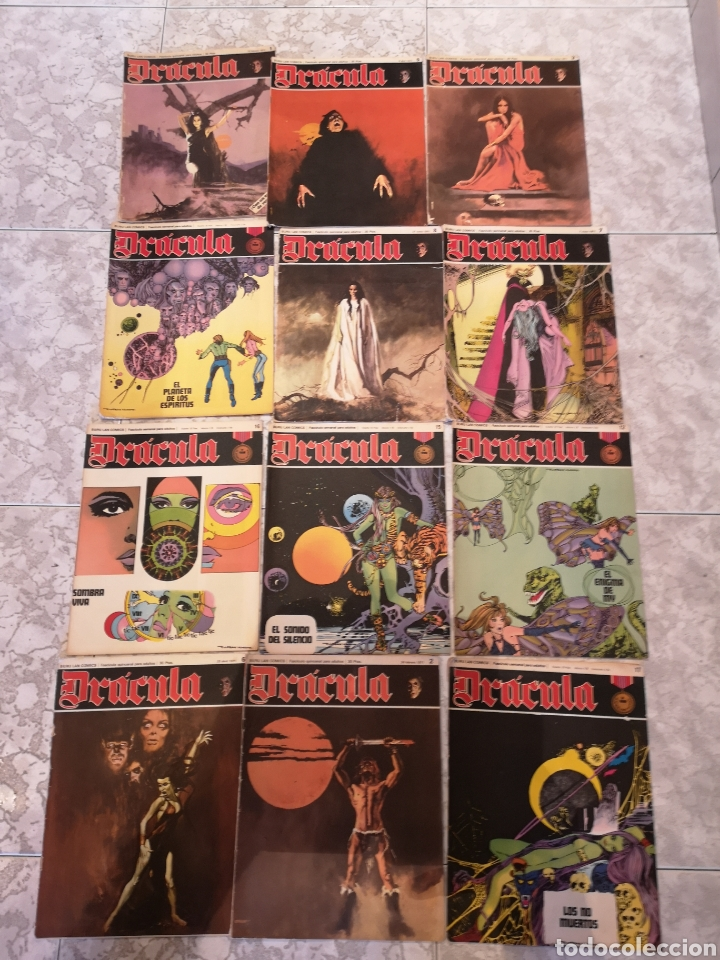 LOTE DE 12 COMICS DRÁCULA BURU LAN COMICS 1971 (Tebeos y Comics - Buru-Lan - Drácula)