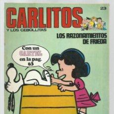 Cómics: CARLITOS 23: LOS RAZONAMIENTOS DE FRIEDA, 1973, BURU LAN. COLECCIÓN A.T.. Lote 221905005