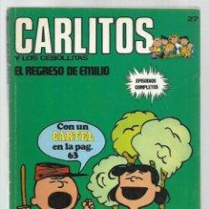 Cómics: CARLITOS 27: EL REGRESO DE EMILIO, 1973, BURU LAN. COLECCIÓN A.T.. Lote 221906347