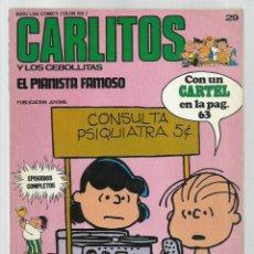 Cómics: CARLITOS 29: EL PIANISTA FAMOSO, 1973, BURU LAN. COLECCIÓN A.T.. Lote 221906938