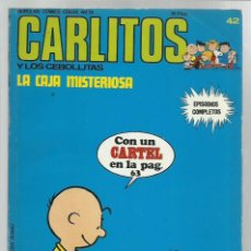 Cómics: CARLITOS 42: LA CAJA MISTERIOSA, 1974, BURULAN, BUEN ESTADO, CONTIENE CARTEL. COLECCIÓN A.T.. Lote 221907443