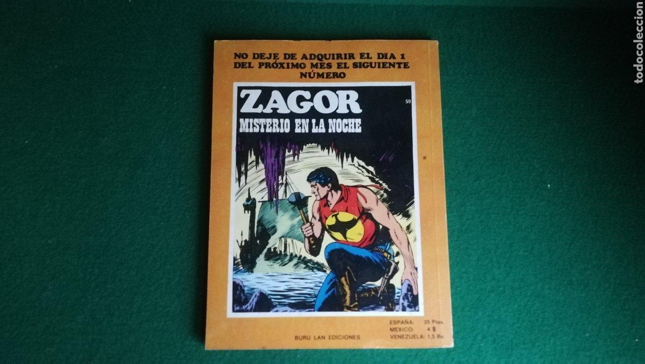 Cómics: ZAGOR BURU LAN - 1ª EDICIÓN - Nº 58 - BUEN ESTADO - Foto 2 - 221324282