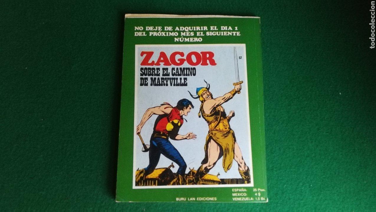 Cómics: ZAGOR BURU LAN - 1ª EDICIÓN - Nº 56 - MUY BUEN ESTADO - Foto 2 - 221324251