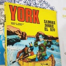 Cómics: YORK N.º 4 SANGRE SOBRE EL RIO BURULAN TACO LIGEROS DEFECTOS EN LOMO Y PASTA FALTA LA PRIMERA HOJA. Lote 222393435