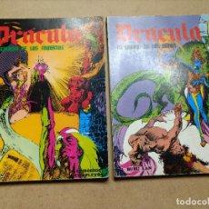 Cómics: DRACULA LOTE 2 ALBUM EPISODIOS COMPLETOS 96 PAGINAS - ESTEBAN MAROTO / BURULAN BURU LAN. Lote 223037423