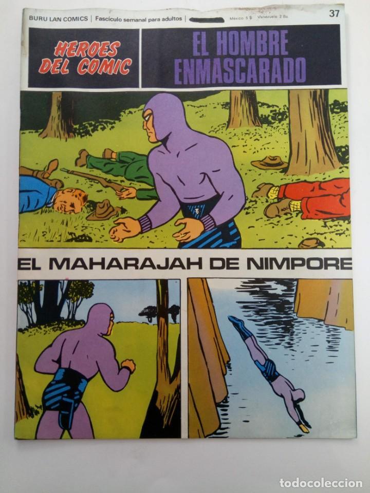 EL HOMBRE ENMASCARADO Nº 37 - EL MAHARAJAH DE NIMPORE - BURU LAN COMICS (Tebeos y Comics - Buru-Lan - Hombre Enmascarado)