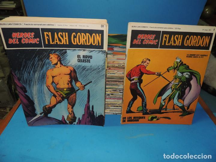 FLASH GORDON. 128 - SERIES COMPLETAS 01AL 020 Y DEL 1 AL 100 HEROES DEL COMIC BURU LAN, S. A (Tebeos y Comics - Buru-Lan - Flash Gordon)