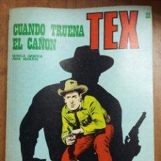 Cómics: TEX N28 CUANDO TRUENA EL CAÑON 1971 EDICIONES BURU LAN. Lote 225643235