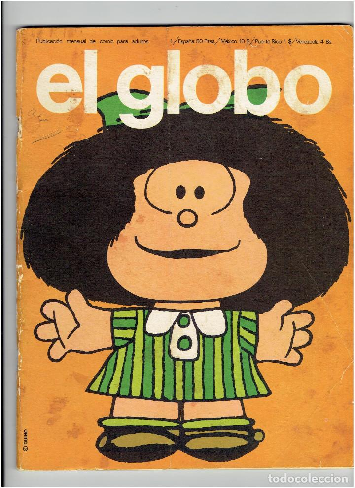 *EL GLOBO Nº 1 * EDI. BURULAN 1973 * MAFALDA, LI'L ABNER, EL ETERNAUTA DE ALBERTO BRECIA - SPIRIT * (Tebeos y Comics - Buru-Lan - Otros)