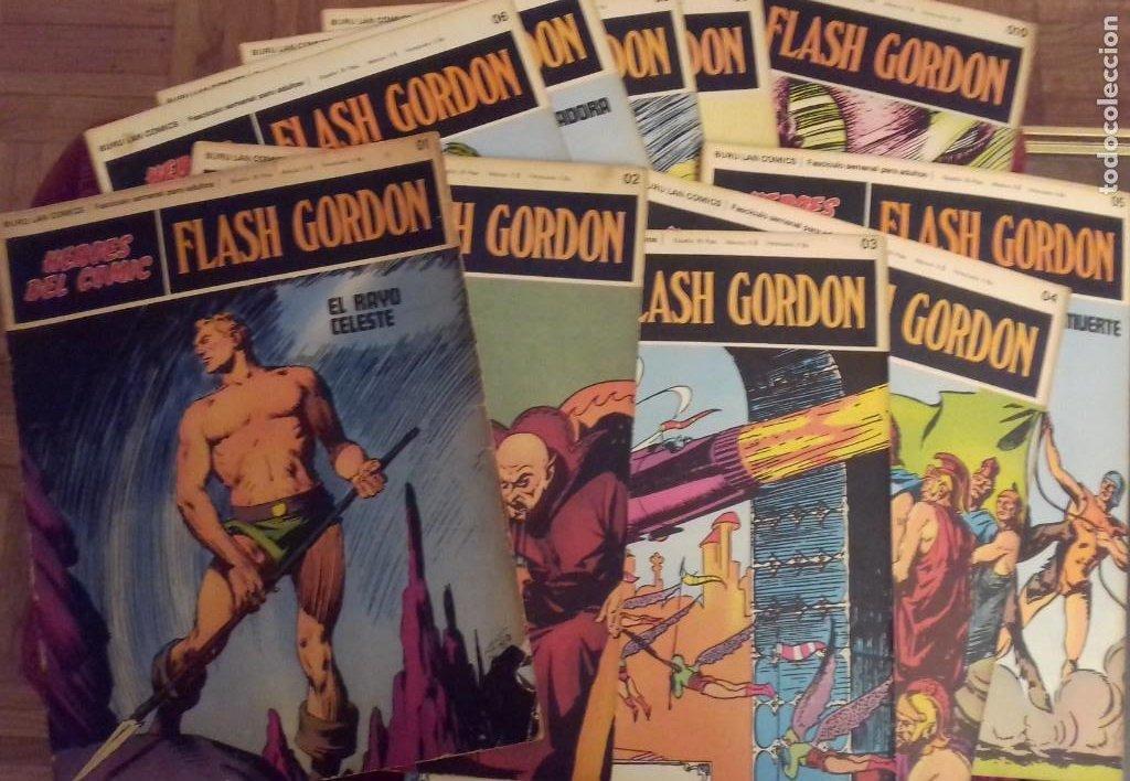 10 FASCICULOS FLASH GORDON BURU LAN TOMO 01 : 01 AL 010. 1972. (Tebeos y Comics - Buru-Lan - Flash Gordon)