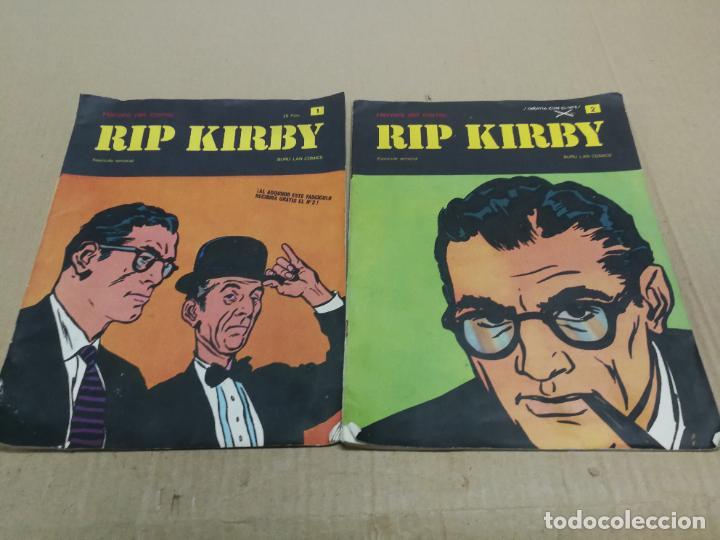 RIP KIRBY Nº 1.Y 2 FASCICULO HEROES DEL COMIC. BURU LAN EDICIONES (Tebeos y Comics - Buru-Lan - Rip Kirby)