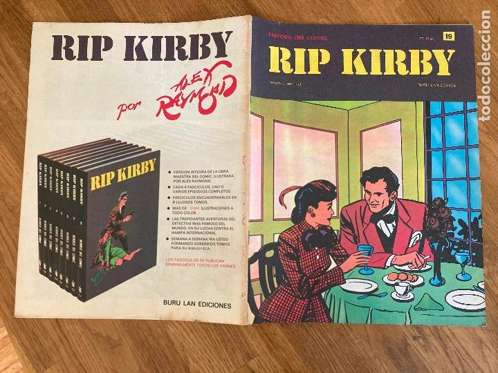 ¡LIQUIDACION TEBEO! PEDIDO MINIMO 5 EUROS - HEROES DEL COMIC / RIP KIRBY 19 - BURU LAN - GCH1 (Tebeos y Comics - Buru-Lan - Rip Kirby)