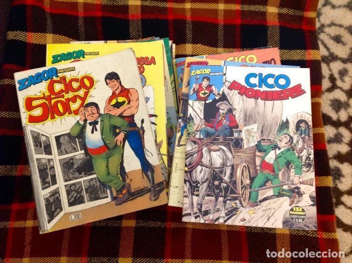 ZAGOR PRESENTA A CHICO COMPLETA 28 TOMOS EN ITALIANO. INCLUYE ÚLTIMO NÚMERO SALIDO 2021 (Tebeos y Comics - Buru-Lan - Zagor)