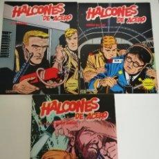 Cómics: 3 CÓMICS HALCONES DE ACERO: PIRATAS DEL AIRE- EL SECUESTRO- EL PLAN DE MISTER KINKADE. BURULAN 1974. Lote 231918570