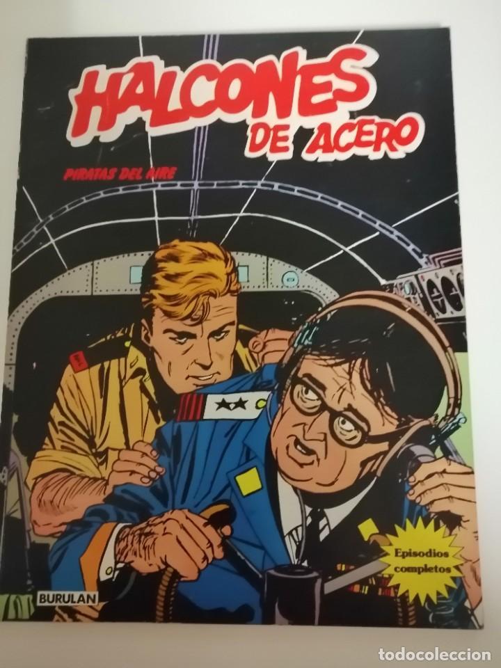 Cómics: 3 cómics halcones de acero: Piratas del aire- El secuestro- El plan de Mister Kinkade. Burulan 1974 - Foto 9 - 231918570