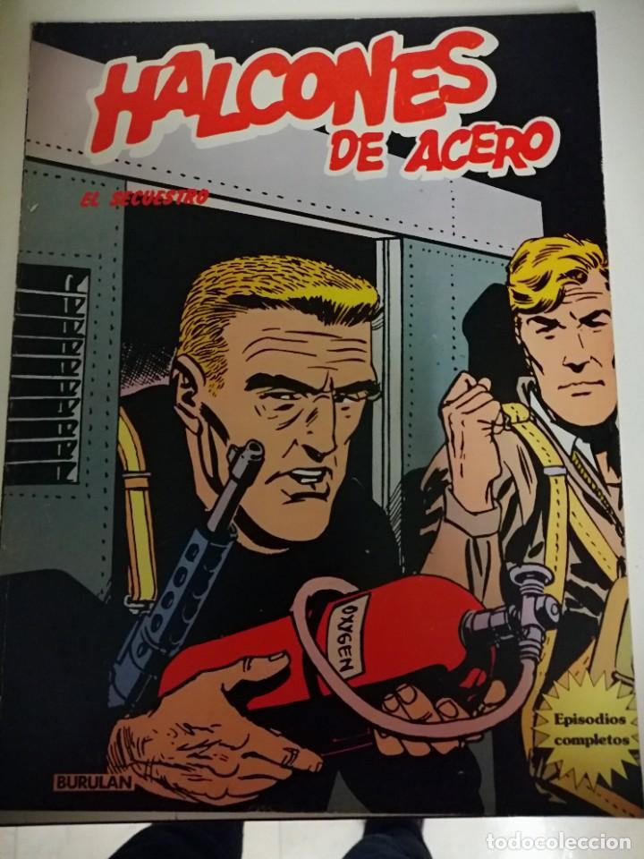 Cómics: 3 cómics halcones de acero: Piratas del aire- El secuestro- El plan de Mister Kinkade. Burulan 1974 - Foto 2 - 231918570