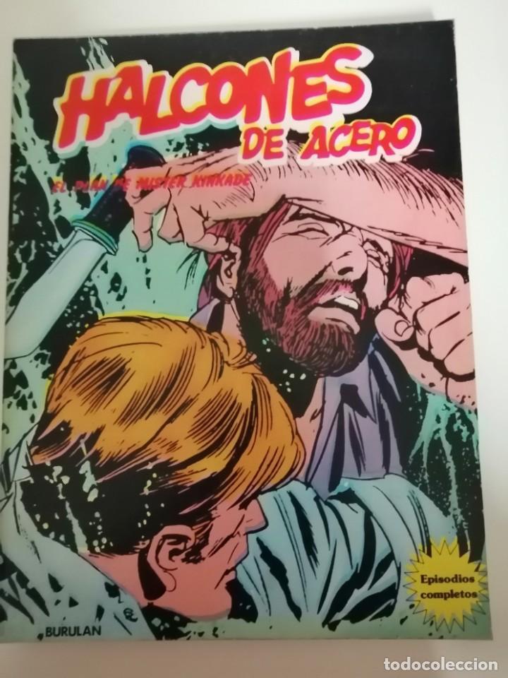 Cómics: 3 cómics halcones de acero: Piratas del aire- El secuestro- El plan de Mister Kinkade. Burulan 1974 - Foto 5 - 231918570