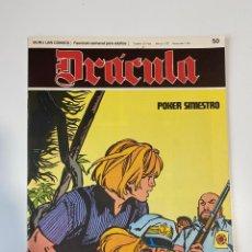 Cómics: DRÁCULA. POKER SINIESTRO. BURU LAN COMICS. FASCÍCULO Nº 50. 1976. Lote 235285515