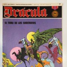 Cómics: DRÁCULA. EL TABU DE LOS SOBERANOS. FASCÍCULO Nº 21. BURU LAN COMICS. 1972. Lote 235286340