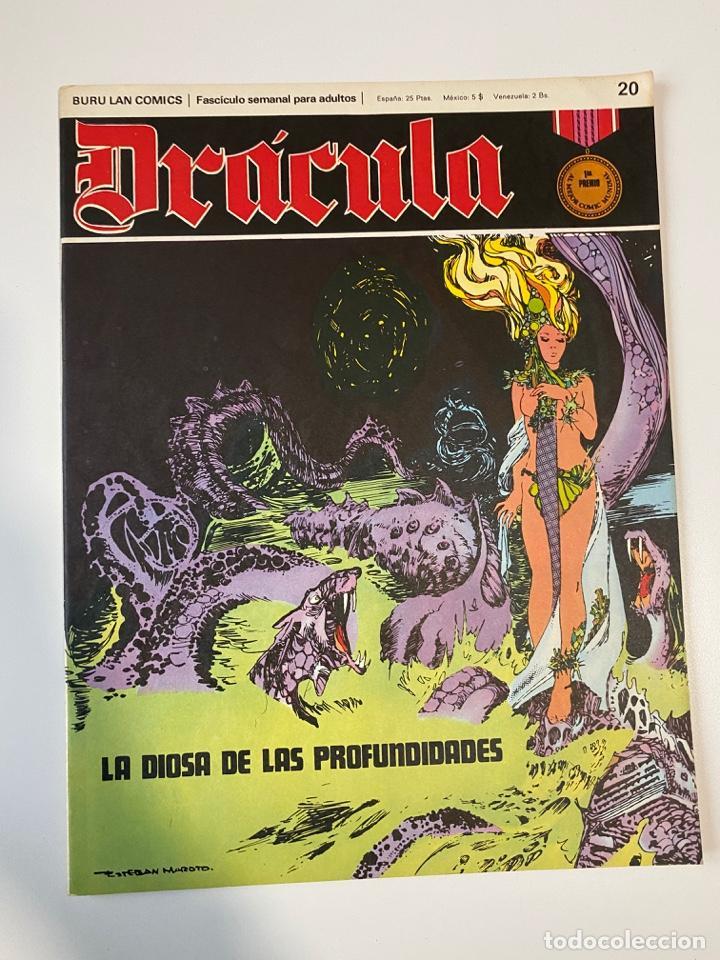 DRÁCULA. LA DIOSA DE LAS PROFUNDIDADES. FASCÍCULO Nº 20. BURU LAN COMICS. 1972 (Tebeos y Comics - Buru-Lan - Drácula)