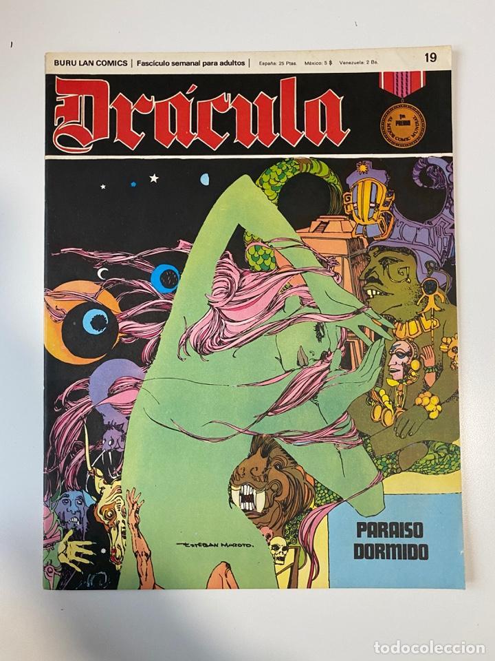 DRÁCULA. PARAISO DORMIDO. FASCÍCULO Nº 19. BURU LAN COMICS. 1972 (Tebeos y Comics - Buru-Lan - Drácula)