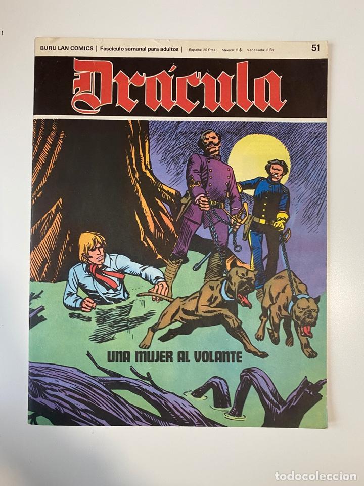 DRÁCULA. UNA MUJER AL VOLANTE. FASCÍCULO Nº 51. BURU LAN COMICS. 1973 (Tebeos y Comics - Buru-Lan - Drácula)