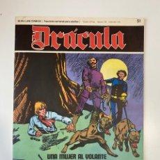 Cómics: DRÁCULA. UNA MUJER AL VOLANTE. FASCÍCULO Nº 51. BURU LAN COMICS. 1973. Lote 235286465