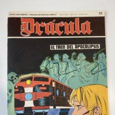 Cómics: DRÁCULA. EL TREN DEL APOCALIPSIS. FASCÍCULO Nº 52. BURU LAN COMICS. 1973. Lote 235286520