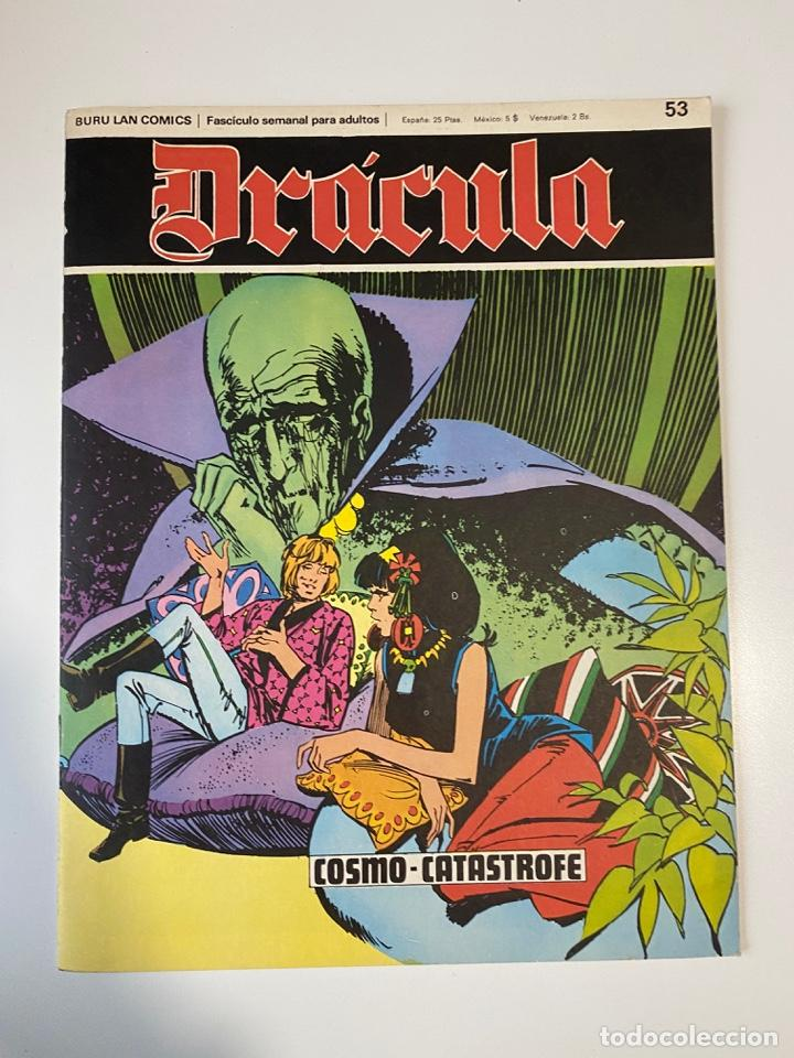 DRÁCULA. COSMO-CATÁSTROFE. FASCÍCULO Nº 53. BURU LAN COMICS. 1973 (Tebeos y Comics - Buru-Lan - Drácula)