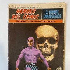 Cómics: EL HOMBRE ENMASCARADO.BURU LAN COMICS.SOLO LAS PORTADAS.TOMO I.FASCÍCULOS DEL Nº 1 AL 12.VER FOTOS. Lote 235289700
