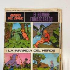Cómics: EL HOMBRE ENMASCARADO.BURU LAN COMICS.SOLO LAS PORTADAS.TOMO 0.FASCÍCULOS DEL Nº 01 AL 012.VER FOTOS. Lote 235289855